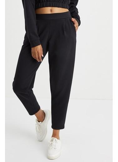 Curly Siyah Cepli Jogger Pantolon Siyah